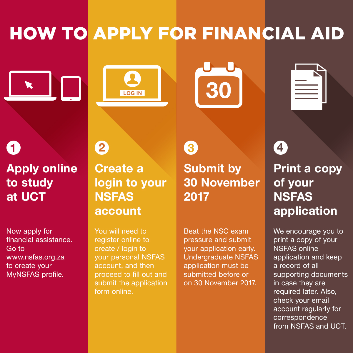 apply for financial assistance online